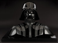 """""""Darth Vader"""" helmet, facemask and chest armor from Star Wars: The Empire Strikes Back with Lucasfilm Ltd. sig..."""