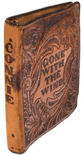 Movie/TV Memorabilia, Gone With the Wind set shooting script with alternate ending in leather cover from Connie Earl....