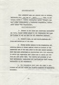 Animation Art, Walt Disney signed historical legal license for use of his name by Walt Disney Inc....