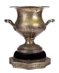 Movie/TV Memorabilia, Silver loving-cup trophy attributed as a 1939 Christmas gift from Carole Lombard to Clark Gable. ...