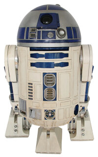 "Complete ""R2-D2"" unit assembled from original components spanning the original Star Wars trilogy and Episodes..."