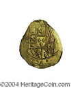 Mexico: , Mexico: Felipe V gold Cob 2 Escudos ND (1714), KM53.2, choice UNC,fully lustrous and bold details where struck up. The obversefeat...