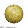 Mexico: , Mexico: Republic. Gold 8 Escudos 1869 Ho-Pr, KM383.8, heavilyhairlined VF/XF.. From the Morris Geiger Collection....