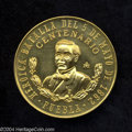 Mexico: , Mexico: Republic. Gold Medal (1962), struck to commemorate thecentennial of the battle of May 5, 1862. Choice prooflike BU,struck ...