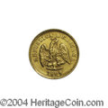 Mexico: , Mexico: Republic Gold 1 Peso 1883 Cn-D, KM-410.2, XF. Very scarce.Struck from rusty dies as normal for the issue.. From theSavan...
