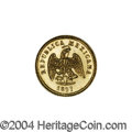 Mexico: , Mexico: Republic Gold 1 Peso 1897 Cn-M, KM-410.2, prooflike, Gem BUwith a mintage of only 785 pieces. . From the Savannah RiverS...