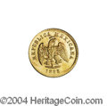Mexico: , Mexico: Republic Gold 1 Peso 1883/72 Mo-M, KM-410.5, BU and struckjust a bit off-center. . From the Savannah River SiteCollectio...
