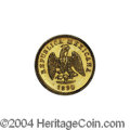 Mexico: , Mexico: Republic Gold 1 Peso 1890 Mo-M, KM-410.5, AU/Unc. A veryscarce issue with a small mintage of only 570 pieces. . From the...