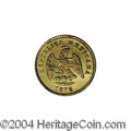 Mexico: , Mexico: Republic Gold 1 Peso 1878 Zs-S, KM-410.6, AU with a fainthairline scratch on the obverse. A very rare date. The catalogsd...