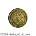 Mexico: , Mexico: Republic Gold 5 Pesos 1897 Mo-M, KM-412.6, XF. Very rare,with a mintage of only 370 pieces and few appearances in recentye...