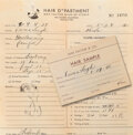 Movie/TV Memorabilia, Max Factor archive of (130+) sample hair locks from golden age Hollywood stars....