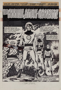 "John Byrne original artwork for Fantastic Four #256 complete 22-page story ""The Annihilation Gambit"""