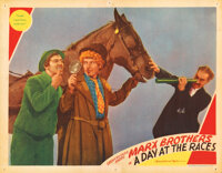 The Marx Brothers lobby card for A Day at the Races