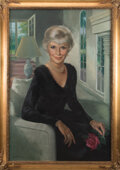 """Movie/TV Memorabilia, Barbara Stanwyck """"Constance Colby"""" portrait painting from The Colbys...."""