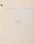 Movie/TV Memorabilia, Richard Matheson's The Twilight Zone original hand-annotated 1st draft teleplay, shooting script and materials archive for The...