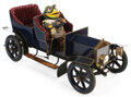 """Movie/TV Memorabilia, Wind in the Willows """"Mr. Toad"""" miniature stop-motion puppet and car...."""
