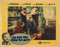 Movie Posters, Alfred Hitchcock lobby card for The Man Who Knew Too Much featuring Peter Lorre. . ...