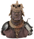 """Movie/TV Memorabilia, """"Evil Ash"""" stunt mask with production made helmet and display bust from Army of Darkness...."""