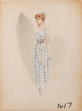 Movie/TV Memorabilia, Striking designs (11) costume sketches by Yvonne Wood and others....