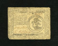 Colonial Notes:Continental Congress Issues, Continental Currency July 22, 1776 $3 Fine. There is an approxiamtequarter inch tear at top center....