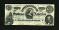 Confederate Notes:1862 Issues, T49 $100 1862. This is an attractive C-note that was once mountedwith the help of stamp hinges in the back corners. An appr...