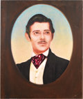"Movie/TV Memorabilia:Original Art, Clark Gable Portrait. This 41.5"" x 48"" oil-on-wood painting ofClark Gable as Rhett Butler in Gone With the Wind was cre..."