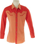 Movie/TV Memorabilia:Costumes, Eddie Dean's Nudie's Tailored Shirt. This beautiful Western shirt, fashioned for Hollywood singing cowboy Eddie Dean, is a c...