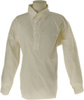 Movie/TV Memorabilia:Costumes, John Wayne Labeled White Shirt. Did you know John Wayne had a size48 chest and a size 18 sleeve? This white, long-sleeved s...