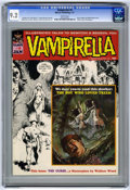 Magazines:Horror, Vampirella #9 (Warren, 1970) CGC NM- 9.2 White pages. Boris Vallejo and Wally Wood cover. Wood, Barry Windsor-Smith, and Ken...