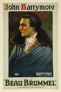 """Beau Brummel (Warner Brothers, 1924). One Sheet (27"""" X 41"""") Style A. John Barrymore stars in the title role as..."""