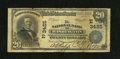 National Bank Notes:District of Columbia, Washington, DC - $20 1902 Plain Back Fr. 651 NB Ch. # (E)3425. Signatures are printed on this $20 that has an approximat...