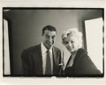 "Movie/TV Memorabilia:Photos, Marilyn Monroe and Joe DiMaggio Vintage Photo. A rare b&w 8"" x10"" photo of Marilyn with her then-husband Joe DiMaggio, by G..."