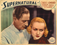 Carole Lombard lobby card for Supernatural