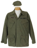 """Movie/TV Memorabilia, Mykelti Williamson """"Bubba Blue"""" military shirt and hat from Forrest Gump...."""