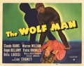 Movie Posters, Lon Chaney, Jr. title-lobby card for The Wolf Man. . ...