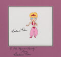 Movie/TV Memorabilia, I Dream of Jeannie opening credits animation cel signed by Barbara Eden....
