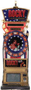 """Movie/TV Memorabilia, """"Rocky"""" slot machine with matching chairs from the collection of Sylvester Stallone...."""