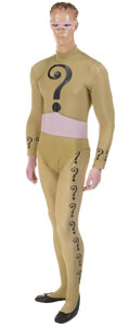 """Movie/TV Memorabilia, Frank Gorshin """"The Riddler"""" complete signature question mark supervillain costume from Batman: The Movie, and series...."""