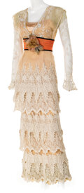 """Movie/TV Memorabilia, Kate Winslet """"Rose Dewitt Bukater"""" screen worn luncheon """"first sight"""" lace gown from Titanic...."""