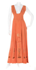 """Movie/TV Memorabilia, Elizabeth Taylor """"Cleopatra"""" coral gown by Irene Sharaff from Cleopatra...."""