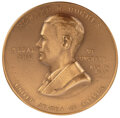 Movie/TV Memorabilia, Howard Hughes personal 1939 Congressional Gold Medal recognizing his achievements in advancing the science of aviation....