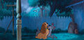 Animation Art, (2) pan production cels placed on an original production background from Lady and the Tramp. ...