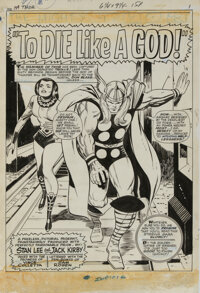 "Jack Kirby and Vince Colletta original artwork for The Mighty Thor #139 complete 16-page story ""To Die Like a God&q..."