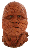 """Movie/TV Memorabilia, Michael Chiklis """"The Thing"""" screen used facial appliance on a display bust from Fantastic Four...."""
