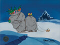 """Movie/TV Memorabilia, """"Grinch"""" as Santa Claus and """"Max"""" as a reindeer production cels from How the Grinch Stole Christmas...."""