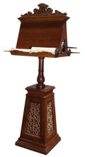 Movie/TV Memorabilia, Pair of magical Scroll Daises from the wizard's library. ...
