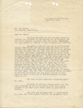 Movie/TV Memorabilia, Howard Hughes signed Caddo Company contract hiring writer Ben Hecht for Scarface, countersigned by Hecht....