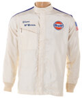 Movie/TV Memorabilia, Steve McQueen Gulf racing jacket worn during production and promotion of Le Mans....