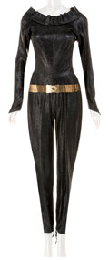 """Movie/TV Memorabilia, Lee Meriwether """"Catwoman"""" suit and belt from Batman: The Movie...."""