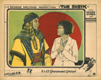 Rudolph Valentino lobby card for The Sheik